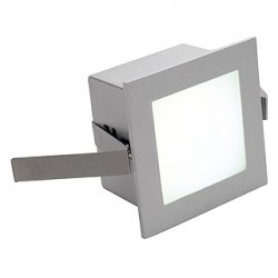 FRAME BASIC LED encastré. carré. gris argent. LED 3000K