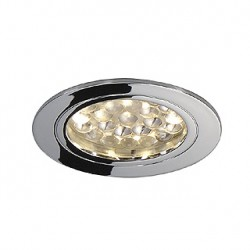 DL 123 LED FURNITURE. encastré rond. chrome. 24 LED. 3000K