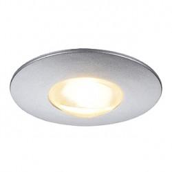 LIGHTPOINT 2. encastré. rond. gris argent métalique. 1W LED 3000K