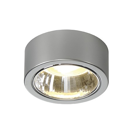 CL 101 GX53. plafonnier. rond. gris argent. max. 11W