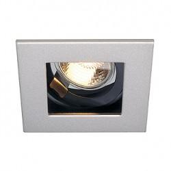 INDI REC 1S encastré. carré. gris argent/noir. GU10. max. 50W. orientable