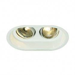HORN 2 GU10 encastré. oval. blanc mat max. 2x 50W