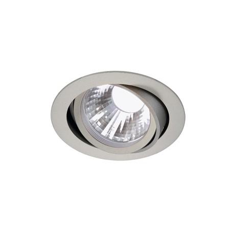 NEW TRIA LED DISK encastré. rond. gris argent. 4000K. 35 degrés. clips ressorts