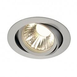 NEW TRIA LED DISK encastré. rond. gris argent. 2700K. 60 degrés. clips ressorts