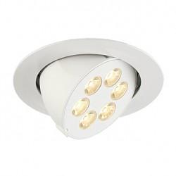 TRITON 6 GIMBLE encastré. rond. blanc mat. 6x 1W LED blanc chaud. orientable
