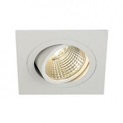 KIT NEW TRIA LED DL CARRE. blanc mat. 6W. 3000K. 38 degrés. clips ressorts