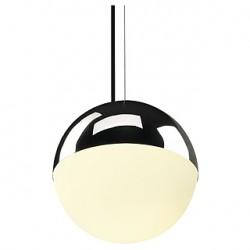 BIG LIGHT EYE suspension. chrome. E27. max. 75W. verre satiné
