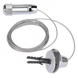 Filin de suspension pour LINUX LIGHT chrome. 250 cm