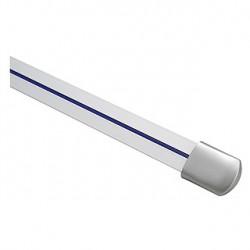 Rail LINUX LIGHT. 1m. gris argent. 2 embouts inclus
