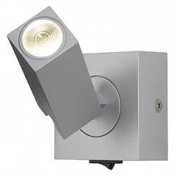 STIX applique. gris argent. 1x 3W LED 3000K. avec interrupteur