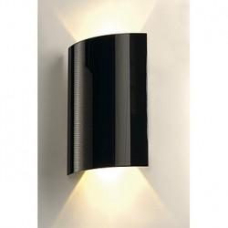 LED SAIL 2 applique. arrondie. noire. 2x 3W LED. 3000K