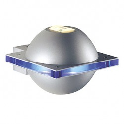UFO BEAM. gris argent/bleu. G9. max. 40W. IP44