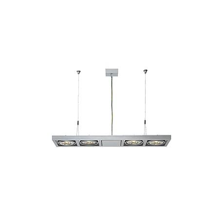 AIXLIGHT LONG QRB111 suspension. gris argent. 4x G53. max. 50W