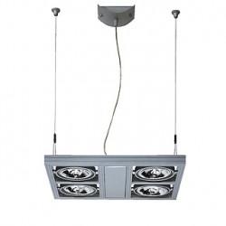AIXLIGHT SQUARE QRB111 suspension. gris argent. 4x G53. max. 50W