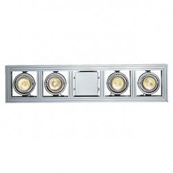 AIXLIGHT LONG GU10 suspension. gris argent. max. 4x 50W