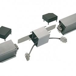 Connecteur droit pour Q-LINE WALL. blanc/chrome