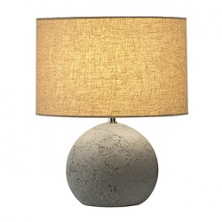 SOPRANA SOLID TL-1. lampe à poser. ronde. diffuseur gris-beige. E27. max.40W