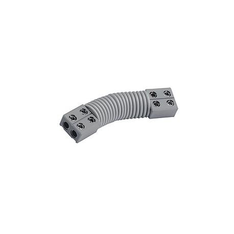 Connecteur flexible pour GLU-TRAX. gris. max. 20A