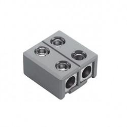 Alimentation et connecteur droit pour GLU-TRAX. gris. max. 20A