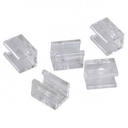 Clips rapides pour Tube PVC. 10 pièces