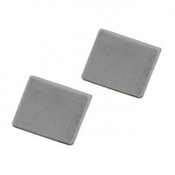 Embouts pour PROFIL MURAL LED. gris argent. 2 pièces