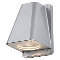 WALLYX GU10 applique. gris argent. max. 50W. IP44