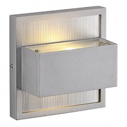 DACU UP-DOWN LED applique. carrée. gris argent. 2x 1W. 2700K. IP44