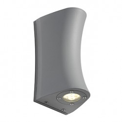 DELWA CURVE applique. gris argent. 2 spots 4x1W LED. 4000K. IP44