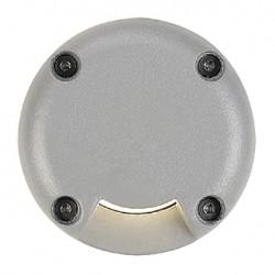 LED PLOT rond. 1 fenêtre. gris argent