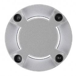 LED PLOT rond. 4 fenêtres. gris argent