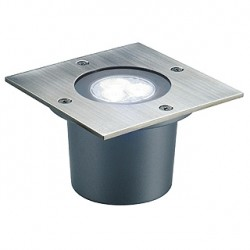 WETSY POWER LED encastré. carré. inox 316. 3x 1W. blanc. IP67