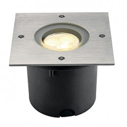 WETSY POWER LED encastré. carré. inox 316. 3x 1W. blanc chaud. IP67