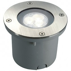 WETSY POWER LED encastré. rond. inox 316. 3x 1W. blanc. IP67