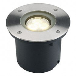 WETSY POWER LED encastré. rond. inox 316. 3x 1W. blanc chaud. IP67