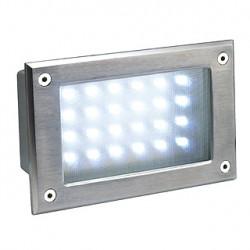 BRICK LED 24 inox 304. encastré. inox brossé. 5W. 5700K. IP54