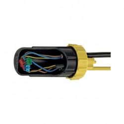 Boîte de connexion IP68. ronde. diamètre de câble 4x 5-14mm