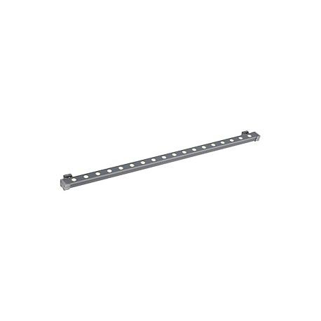 GALEN LED PROFIL 100 cm. gris argent. 18x1W. blanc chaud. IP65
