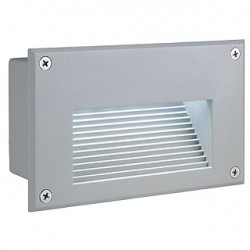 BRICK LED DOWNUNDER encastré. rectangulaire. gris argent. LED 6500K