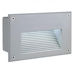 BRICK LED DOWNUNDER encastré. rectangulaire. gris argent. LED 6500K