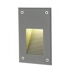 BRICK LED DOWNUNDER VERTICAL encastré. gris argent. LED 3000K