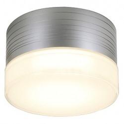 MICRO FLAT applique et plafonnier. rond. gris argent. GX53. max. 9W. verre satiné