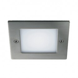 FRAME OUTDOOR 16 LED encastré. carré. inox. blanc