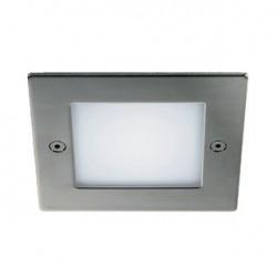 FRAME OUTDOOR 16 LED encastré. carré. inox. blanc