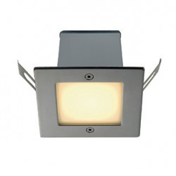 FRAME OUTDOOR 16 LED encastré. carré. inox. blanc chaud