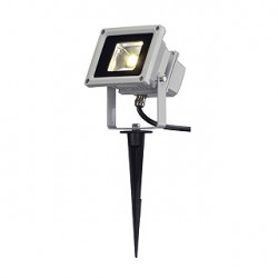 LED OUTDOOR BEAM. gris argent. 10W. 3500k. 100 degrés. IP65