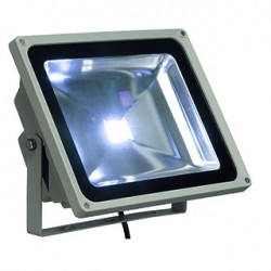 LED OUTDOOR BEAM. gris argent. 50W. 3000k. 100 degrés. IP65