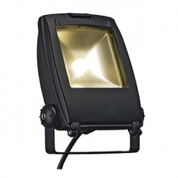 LED FLOODLIGHT. noir mat. 10W. blanc chaud. 120 degrés