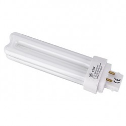 Lampe fluo compact TC-D/E 13W. 3000K. 4 broches. pour ballast électronique