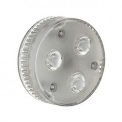 Lampe GX53 LED. 3x 1.4W. LED 3000K. angle 35 degrés
