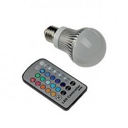 Fiesta Bulb 3. E27. 5.5W LED. RGB changement de couleur. avec télécommande infrarouge